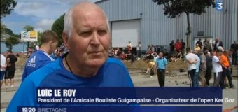 Guingamp(22): Présentation de la boule bretonne sur France 3