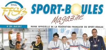 Sport boules magazine : Article sur l'inauguration du boulodrome de Pluzunet et la finale départementale