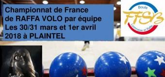Plaintel(22): Championnat France Raffa-Volo du 30 mars au 1er avril