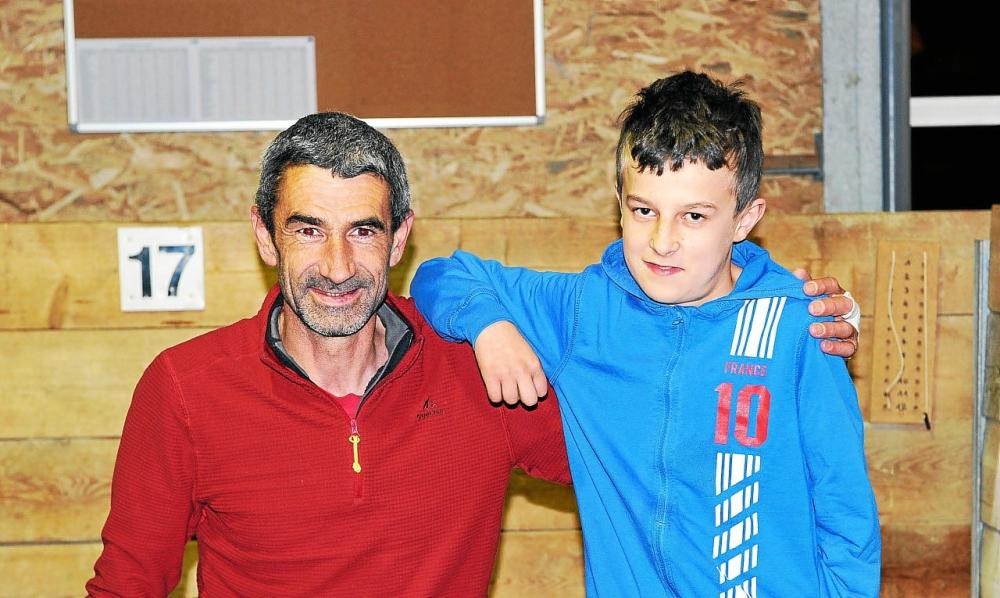 Bastien l'élève en compagnie de son maître David Goffic,s'est classé à la 3ème place du challenge Louis Le Gall