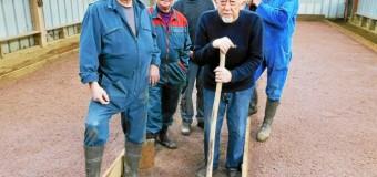 Plestan(22): Les bénévoles assurent l'entretien des jeux de boule bretonne