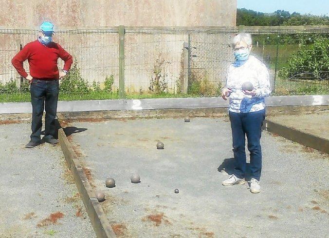 François et Jeannette ont retrouvé les allées de boules avec beaucoup de plaisir