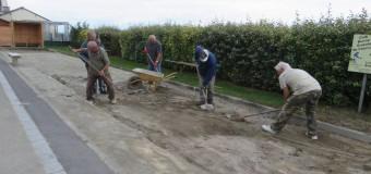 Cherrueix(35): Le terrain de boules bretonnes remis en état