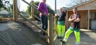 Langoat(22): Un escalier aménagé pour les boulistes